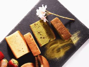A plate of Japanese sponge cake, castella